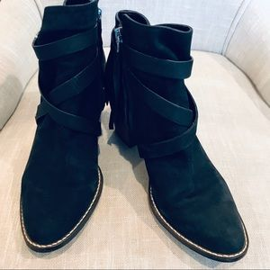"Sam Edelman ""Merton"" Black Leather Bootie"